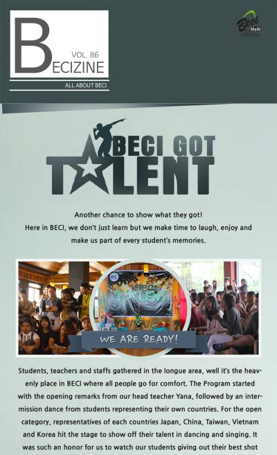 VOL 86 (BECI GOT TALENT)_cover